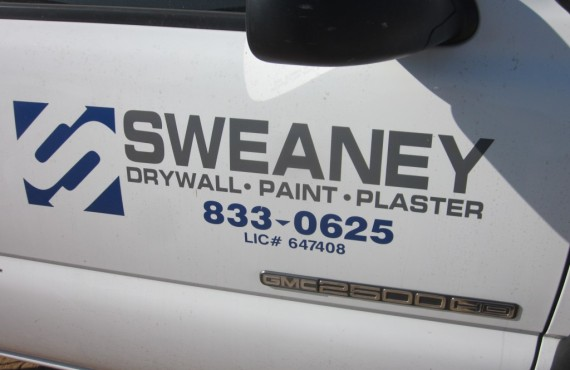 Sweaney Inc Bakersfield CA Drywall, Paint, Plaster truck