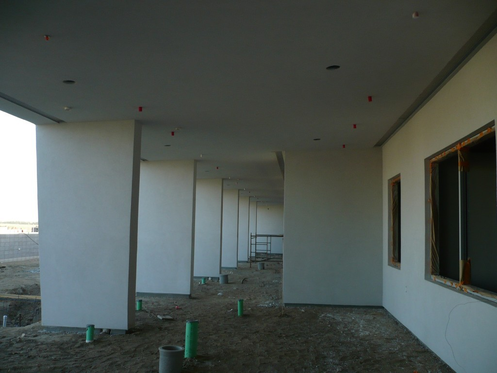 We installed 1200 LF of 6″ aluminum vent screeds in the exterior ceilings